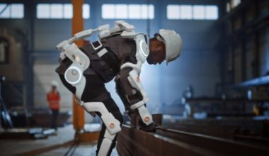 Man Using Exoskeleton